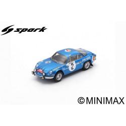 SPARK S6108 ALPINE A110 N°2 Rallye Monte-Carlo 1971 - J-P. Nicolas - C. Roure
