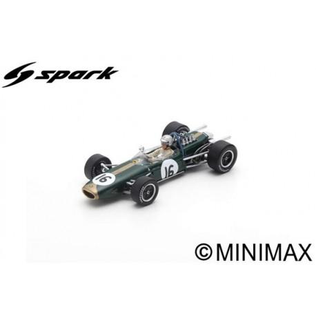 SPARK S7114 BRABHAM BT19 N°16 Vainqueur GP Pays-Bas 1966 - Jack Brabham