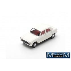 MILEZIM Z0013 PEUGEOT 204 Snow White 1965