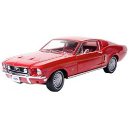 GREENLIGHT 12821 FORD MUSTANG GT FASTBACK 1968 ROUGE 1.18