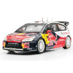NOREV 181550 CITROEN C4 WRC RED BULL N°1 WINNER GB LOEB ELENA 1.18