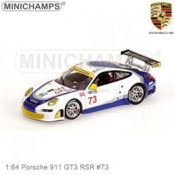MINICHAMPS 640076473 PORSCHE 911 GT3 RSR N°73 12H SEBRING 2007 1.64