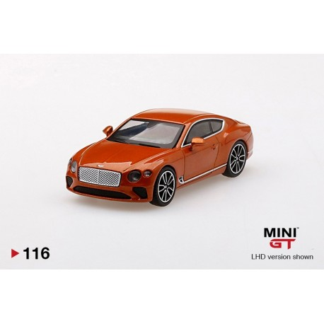 MINI GT MGT00116-L BENTLEY Continental GT Orange Flame
