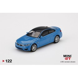 MINI GT MGT00122-L BMW M4 (F82) Yas Marina Blue Metallic