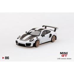 MINI GT MGT00086-L PORSCHE 911 GT2 RS Weissach Package White