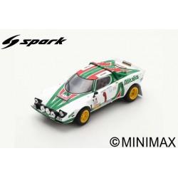 SPARK S9090 LANCIA Stratos HF N°1 Vainqueur Rallye Monte Carlo 1977 S. Munari - S. Maiga