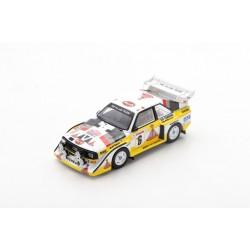 SPARK S5191 AUDI SPORT QUATTRO S1 E2 N°6 3ème Rallye Monte Carlo 1986- H. Mikkola - A. Hertz