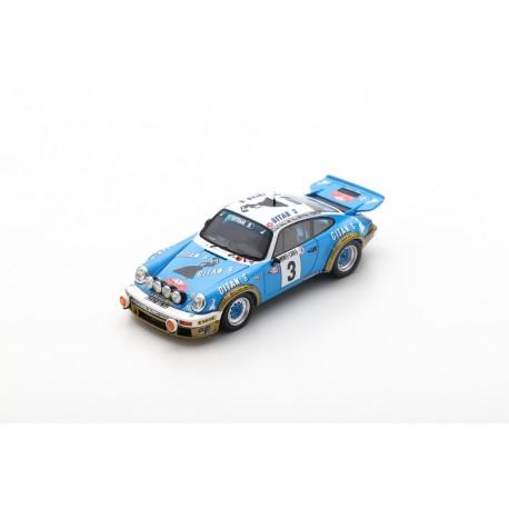 SPARK S6639 PORSCHE 911 N°3 Vainqueur Rallye Monte Carlo 1978- J-P. Nicolas - V. Laverne