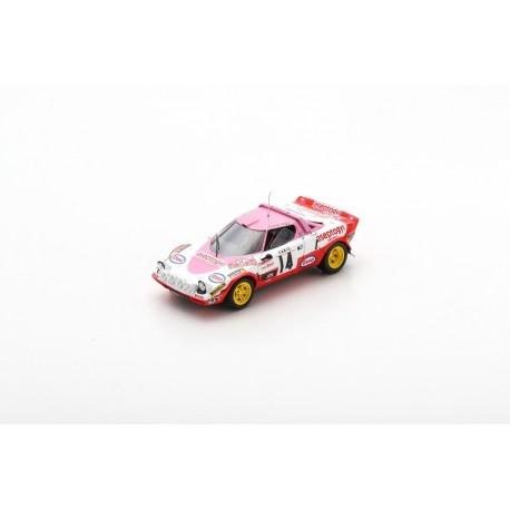 SPARK S9101 LANCIA Stratos HF N°14 Vainqueur Coupes des Dames Monte Carlo 1977- C. Dacremont - C. Galli