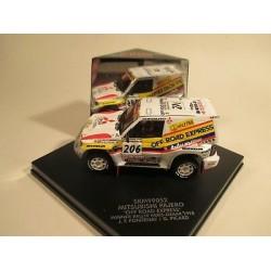 VITESSE SKM99052 Mitsubishi Pajero Fontenay Picard Paris Dakar 1998 n°206 1er