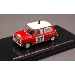 EBBRO 44660 MORRIS MINI COOPER N.37 WINNER MONTE CARLO 1964