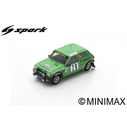 SPARK S6036 RENAULT 5 Alpine N°28 Rallye Monte Carlo 1979 Bruno Saby - Michel Guégan