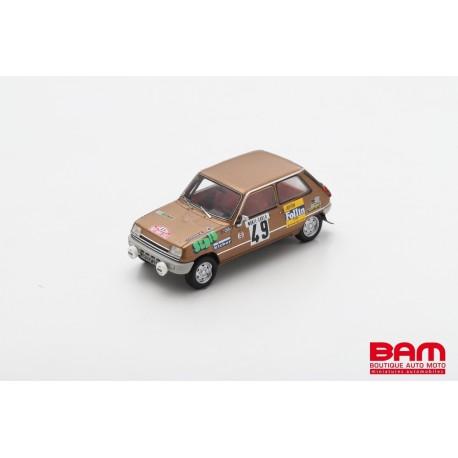 SPARK S6019 RENAULT 5 LS N°49 Rallye Monte Carlo 1975 Alain Follin - Pierre Bertrand