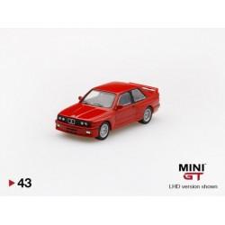 MINIGT 00043-L BMW M3 (E30) LHD-Rouge