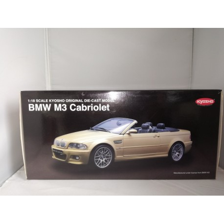 KYOSHO 08505Y BMW M3 E46 CABRIOLET JAUNE (1/18)