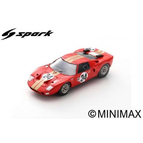 SPARK S2772 FORD GT40 AMR2 N°24 12H Sebring 1966 G. Hill - J. Stewart