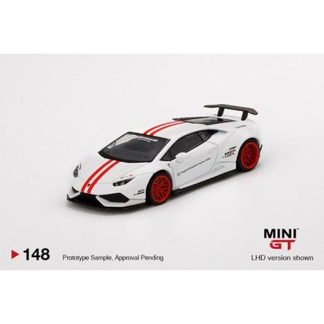 MINIGT00148 LAMBORGHINI Huracán Version 1 White w/ Red Stripe LB?WORKS