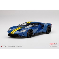 TOP SPEED TS0305 FORD GT Sunoco Blue w/ Yellow Stripe