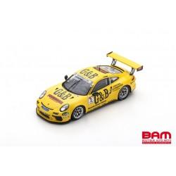 SPARK S8501 PORSCHE 911 GT3 Cup N°2 Champion Porsche Carrera Cup Scandinavie 2018 Lukas Sundahl