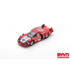SPARK 18S511 ALFA ROMEO 33/2 N°40 6ème 24H Le Mans 1968 M. Casoni - G. Biscaldi
