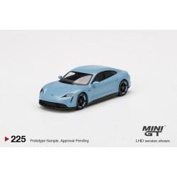 MINI GT MGT00225-L PORSCHE Taycan Turbo S Frozen Blue Metallic