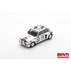 SPARK S5561 RENAULT 5 Turbo N°10 Rallye Monte Carlo 1985 Dany Snobeck - Jean-Pierre Béchu