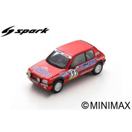 SPARK S9456 PEUGEOT 205 GTI N°132 Rallye Monte Carlo 1986 François Delecour - Anne-Chantal Pauwels