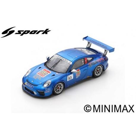 SPARK SF140 PORSCHE 911 GT3 Cup N°53 Porsche Carrera Cup France Champion 2018 Ayhancan Güven (300ex)