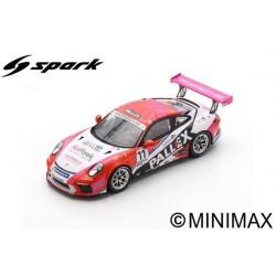 SPARK UK004 PORSCHE 911 GT3 Cup N°11 Porsche Carrera Cup Grande Bretagne Champion 2018 Tio Ellinas (300ex)
