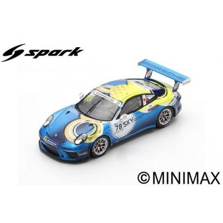 SPARK SJ066 PORSCHE 911 GT3 Cup N°78 Porsche Carrera Cup Japon Champion 2018 Tsubasa Kondo (300ex)