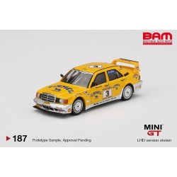 "MINI GT MGT00187-L MERCEDES-BENZ 190E 2.5-16 Evolution II N°3 ""Camel"" 1990 Yellaw Page"