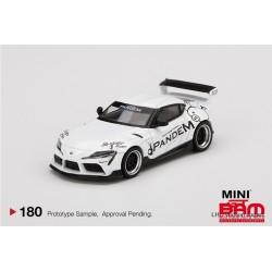 MINI GT MGT00180-L TOYOTA GR SUPRA V1.0 PANDEM WHITE LHD