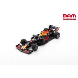 SPARK 18S595 RED BULL Racing RB16B N°33 Honda Red Bull Racing Vainqueur GP Monaco 2021 Max Verstappen avec n°1 Board