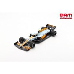 SPARK 18S597 MCLAREN MCL35M N°4 McLaren 3ème GP Monaco 2021 -Lando Norris avec N°3 Board