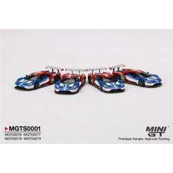 MGTS0001 FORD GT LMGTE PRO Ford Chip Ganassi Team 24H of Le Mans 2016 Set 4 voitures (5000ex.)