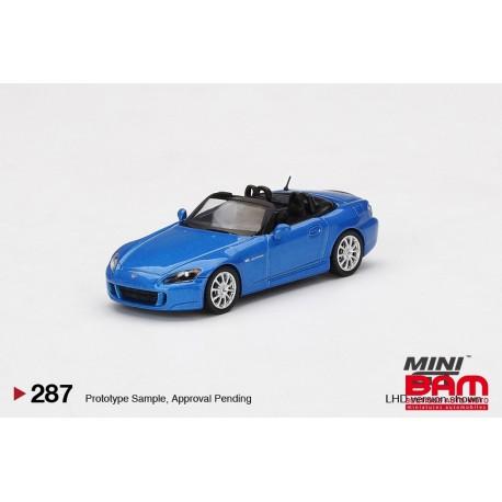 MINI GT00287-L HONDA S2000 (AP2) Laguna Blue Pearl LHD