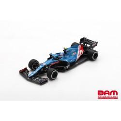 SPARK S7684 ALPINE A521 N°31 Alpine F1 Team 1er GP Hongrie 2021 E. Ocon avec Pit Board