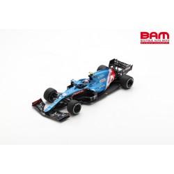 SPARK 18S600 ALPINE A521 N°31 Alpine F1 Team 1er GP Hongrie 2021 E. Ocon avec Pit Board