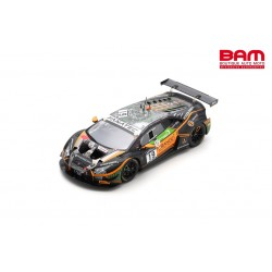 SPARK SB472 LAMBORGHINI Huracán GT3 EVO N°19 Orange 1 FFF Racing Team 24H Spa 2021 Baguette-Hamaguchi-Costantini-Keen (300ex)