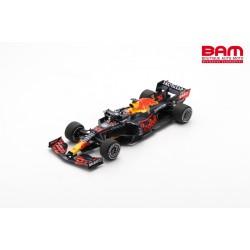 SPARK 18S601 RED BULL Racing RB16B N°33 Honda Red Bull Racing Vainqueur GP Pays-Bas 2021 Max Verstappen avec Pit Board