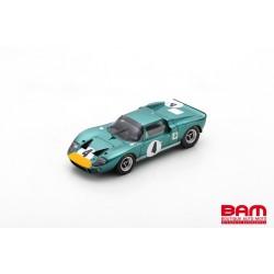 SPARK SB184 FORD GT40 N°4 6ème 1000km Spa 1967 P. Sutcliffe-B. Redman (300ex)
