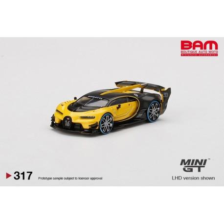 MINI GT MGT00317-LBUGATTI Vision Gran Turismo Yellow