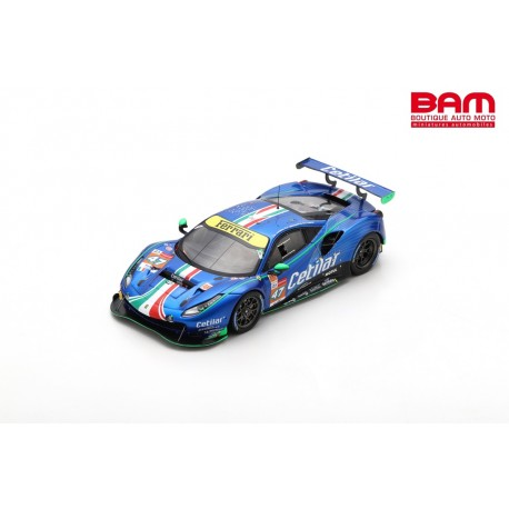 LOOKSMART LSLM123 FERRARI 488 GTE EVO N°47 Cetilar Racing 24H Le Mans 2021 R. Lacorte - G. Sernagiotto - A. Fuoco