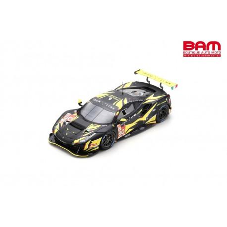 LOOKSMART LSLM127 FERRARI 488 GTE EVO N°60 Iron Lynx 24H Le Mans 2021 C. Schiavoni - P. Ruberti - R. Giammaria