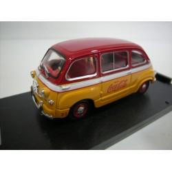 """BRUMM R482 FIAT 600D MULTIPLA """"COCA COLA"""" 1960 1.43"""