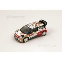 SPARK S3354 CITROEN DS3 WRC MC 2013 N°2 4eme