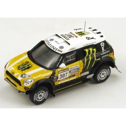 TRUESCALE TSM144344 MINI Countryman All4 Racing n°307 3ème Dakar