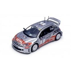 IXO RAM046 PEUGEOT 206 WRC N°1 WINNER RALLYE AUSTRALIE 2001 1.43